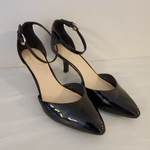 Franco Sarto Patent Black Pumps